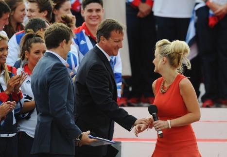 Prime Minister David Cameron thanks Hosts Helen Skelton and Ben Shephard.