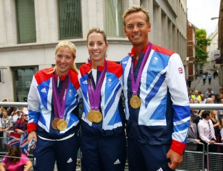 Medal winners travelled aboard 20 floats from Mansion House to Buckingham Palace.