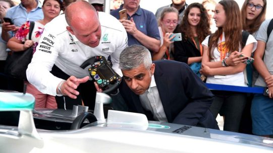 Mayor-of-London-Sadiq-Khan-looks-at-a-Mercedes-AMG-Showcar-at-the-F1-Live-London-event-in-Trafalgar-Square.-941x529